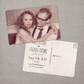 Hazel - 4x6 Vintage Photo Save the Date Postcard card