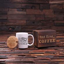 Groomsmen Bridesmaid Gift 12 oz. Coffee Mug with Lid and Tea Box (P00002)