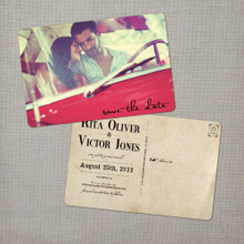Rita - 4x6 Vintage Photo Save the Date Postcard card