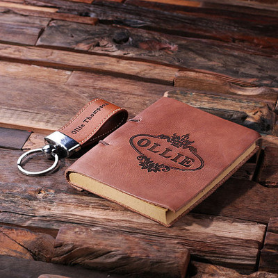 Groomsmen Bridesmaid Gift 2 pc. Gift Set – Key Chain & Journal