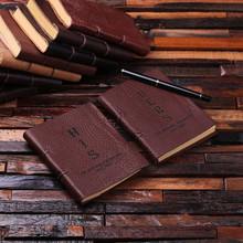 Groomsmen Bridesmaid Gift His and Her Leather Journal Set