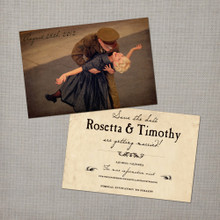 Rosetta 2 - 4x6 Vintage Photo Save the Date Card