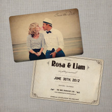 Rosa - 4x6 Vintage Photo Save the Date Card