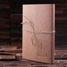 Groomsmen Bridesmaid Gift Portfolio Journal Notebook – Large