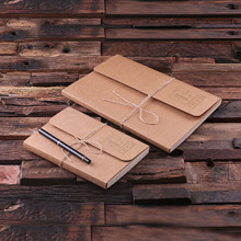 Groomsmen Bridesmaid Gift Portfolio Journal Notebook – Set
