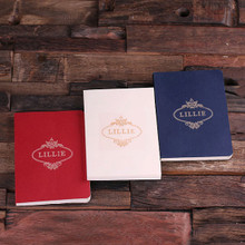 Groomsmen Bridesmaid Gift Portfolio Journal – Red White Blue Set