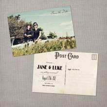 Jane - 4x6 Vintage Photo Save the Date Postcard card