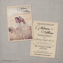 wedding invitation, vintage wedding invitation, rustic wedding invitation