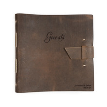 Wedding guest book with personalization options