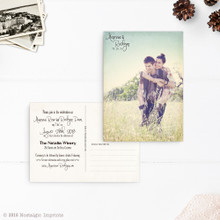 Post card wedding invitation, wedding invite