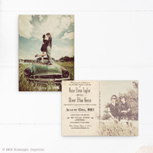 Post card wedding invitation, postcard wedding invite