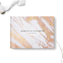 Copper & Gold Marble Wedding Guest Book