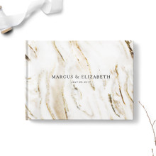 Zebra Marble Wedding Guest Book