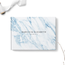 Blue Marble Wedding Guest Book