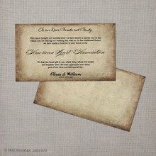 Antique - 2x3.5 Favor Donation Card