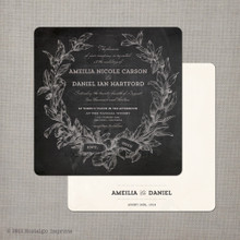 Amelia - 5.25x5.25 Chalkboard Wedding Invitation