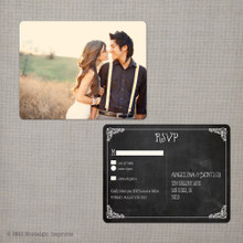 Angelina 3 - 4.25x5.5 Vintage RSVP Postcard