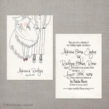 Malissa - 5x7 Vintage Wedding Invitation