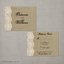 Octavia - 4.25x5.5 Vintage RSVP Card