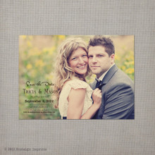 Tricia - 4x5.5 Vintage Save the Date Magnet