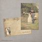 Romina - 4x6 Vintage Wedding Thank You Card