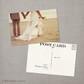 Claire - 4x6 Vintage Wedding Thank You Postcard card