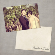 Annalise - 4x6 Vintage Wedding Thank You Card