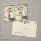Ainsley 4 - 4x6 Vintage Wedding Thank You Postcard card Paris