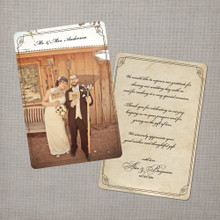 Alice - 4x6 Vintage Wedding Thank You Card