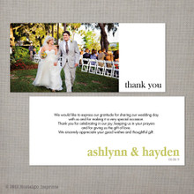 Ashlynn - 4x9 Vintage Wedding Thank You Card