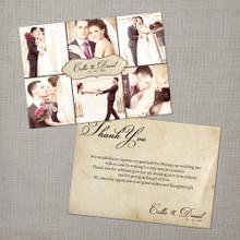 Callie - 5x7 Vintage Wedding Thank You Card