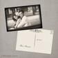 Cinema - 4x6 Vintage Wedding Thank You Postcard card gatsby