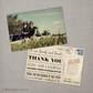 Edwina - 4x6 Vintage Reception Wedding Thank You Card