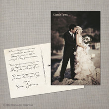 Gabriella - 4x6 Vintage Wedding Thank You Postcard  card