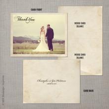 Gia - 4.25x5.5 Folded Vintage Wedding Thank You Card