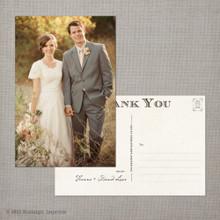 Hanna - 4x6 Vintage Wedding Thank You Postcard card