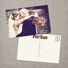 Vanessa - 4x6 Vintage Wedding Thank You Postcard card