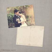 Irene - 4.25x5.5 Vintage Wedding Thank You Postcard