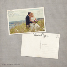 Jacqueline - 4x6 Vintage Wedding Thank You Postcard