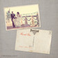 Jennifer - 4x6 Vintage Wedding Thank You Postcard card