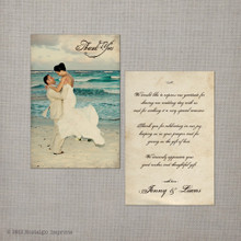 Jenny - 4x6 Vintage Wedding Thank You Card