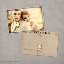 Jessica - 4x6 Vintage Wedding Thank You Postcard card
