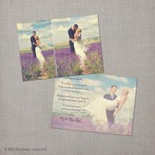 Joella 1 - 4x6 Vintage Wedding Thank You Card
