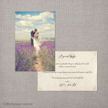 Joella 2 - 4x6 Vintage Wedding Thank You Card