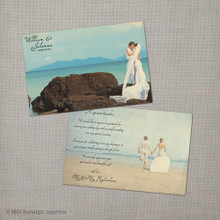 Johanna - 4x6 Vintage Wedding Thank You Card