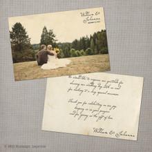 Julianna - 4x6 Vintage Wedding Thank You Card