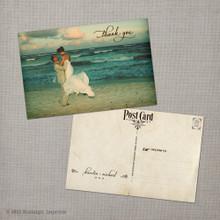 Kiersten - 4x6 Vintage Wedding Thank You Postcard card