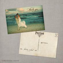 Kiersten - 4x6 Vintage Wedding Thank You Postcard card