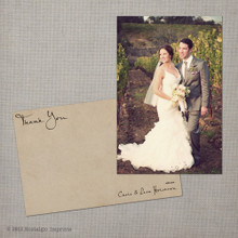 Lara - 4x6 Vintage Wedding Thank You Card