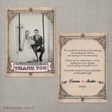 Lyssa - 4x6 Vintage Wedding Thank You Card